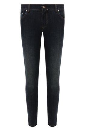 Мужские джинсы DOLCE & GABBANA темно-синего цвета, арт. GY07LD/G8BY4   Фото 1