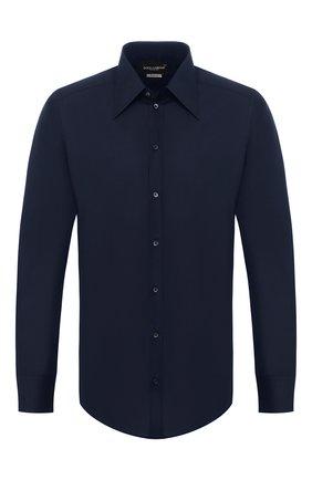Мужская хлопковая сорочка DOLCE & GABBANA темно-синего цвета, арт. G5EJ0T/FJ5GF | Фото 1