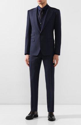 Мужская хлопковая сорочка DOLCE & GABBANA темно-синего цвета, арт. G5EJ0T/FJ5GF | Фото 2