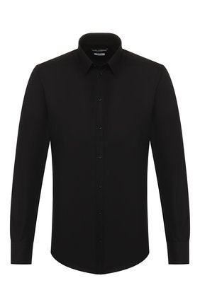 Мужская хлопковая сорочка DOLCE & GABBANA черного цвета, арт. G5EJ0T/FR5XZ | Фото 1