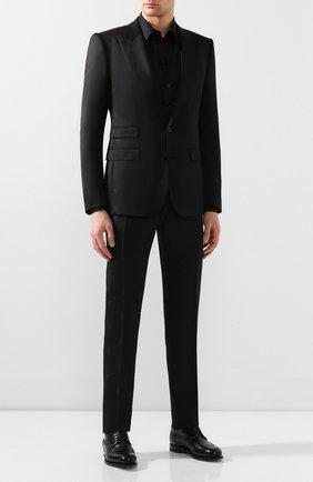 Мужская хлопковая сорочка DOLCE & GABBANA черного цвета, арт. G5EJ0T/FR5XZ | Фото 2