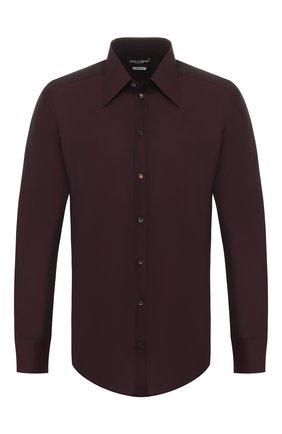 Мужская хлопковая сорочка DOLCE & GABBANA бордового цвета, арт. G5GW0T/FJ5GG | Фото 1