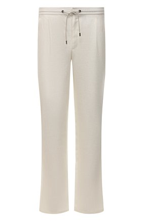 Мужской льняные брюки BRIONI белого цвета, арт. RPMJ0M/P6114/NEW JAMAICA | Фото 1