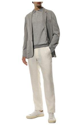 Мужской льняные брюки BRIONI белого цвета, арт. RPMJ0M/P6114/NEW JAMAICA | Фото 2