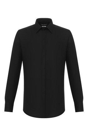 Мужская хлопковая сорочка DOLCE & GABBANA черного цвета, арт. G5GB3T/FJ5GF | Фото 1