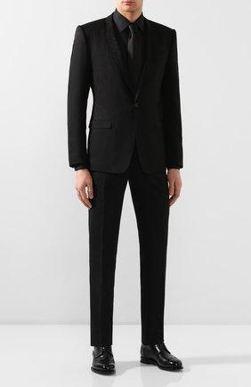 Мужская хлопковая сорочка DOLCE & GABBANA черного цвета, арт. G5GB3T/FJ5GF | Фото 2