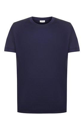 Мужские хлопковая футболка ZIMMERLI темно-синего цвета, арт. 286-96046 | Фото 1