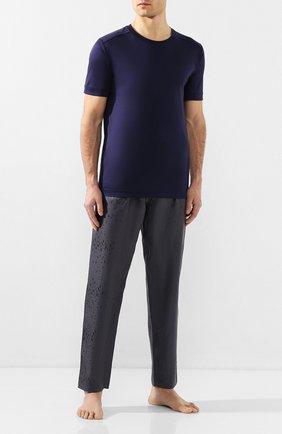 Мужские хлопковая футболка ZIMMERLI темно-синего цвета, арт. 286-96046 | Фото 2
