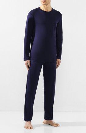 Мужская хлопковая пижама ZIMMERLI темно-синего цвета, арт. 286-96034 | Фото 1