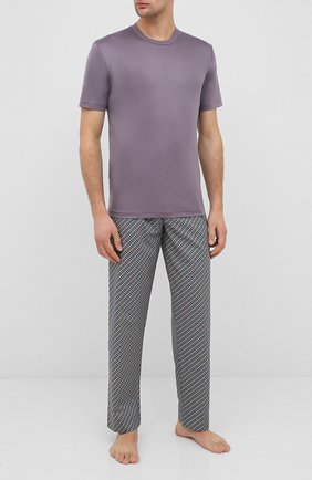 Мужские хлопковая футболка ZIMMERLI серого цвета, арт. 286-1447 | Фото 2