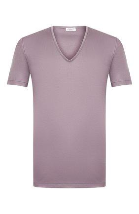 Мужские хлопковая футболка ZIMMERLI серого цвета, арт. 286-1442 | Фото 1
