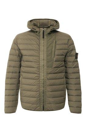 Мужская пуховая куртка STONE ISLAND хаки цвета, арт. 721541225 | Фото 1