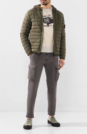 Мужская пуховая куртка STONE ISLAND хаки цвета, арт. 721541225 | Фото 2