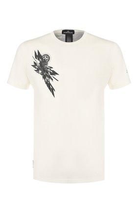 Мужская хлопковая футболка STONE ISLAND SHADOW PROJECT белого цвета, арт. 721920110 | Фото 1