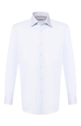 Мужская хлопковая сорочка BRIONI голубого цвета, арт. RCLU3K/PZ003 | Фото 1