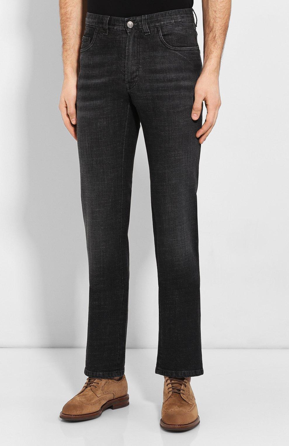 Мужские джинсы BRIONI черного цвета, арт. SPNJ0L/P9D12/STELVI0 | Фото 3