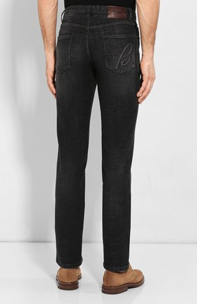 Мужские джинсы BRIONI черного цвета, арт. SPNJ0L/P9D12/STELVI0 | Фото 4