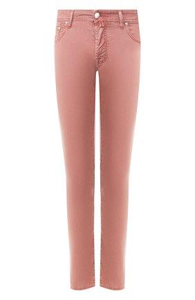 Мужские джинсы JACOB COHEN бордового цвета, арт. J688 C0MF 01831-V/53   Фото 1