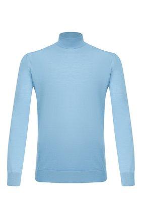 Мужской шерстяная водолазка LORO PIANA голубого цвета, арт. FAI8084 | Фото 1