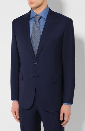 Мужской шерстяной костюм ZILLI синего цвета, арт. MMT-P212Z-20571/M661 | Фото 2