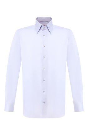 Мужская хлопковая сорочка ZILLI голубого цвета, арт. MFT-MERCU-30803/RZ01 | Фото 1