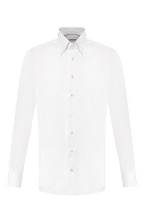 Мужская хлопковая сорочка ZILLI белого цвета, арт. MFT-MERCU-30803/RZ01 | Фото 1