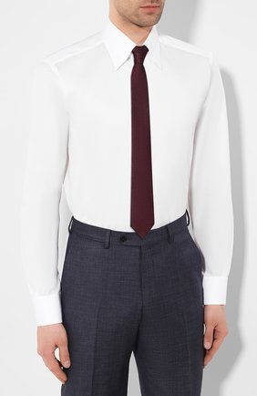 Мужская хлопковая сорочка ZILLI белого цвета, арт. MFT-MERCU-30803/RZ01 | Фото 4