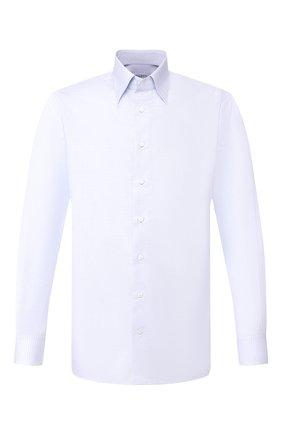 Мужская хлопковая сорочка ZILLI голубого цвета, арт. MFT-MERCU-04220/RZ01 | Фото 1