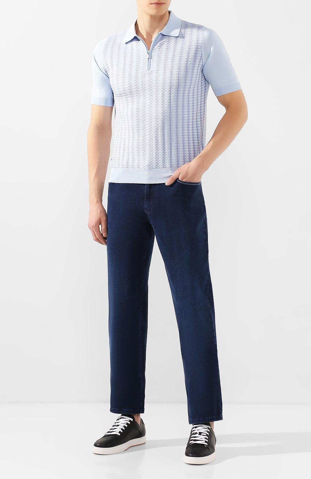 Мужские джинсы ZILLI синего цвета, арт. MCT-00011-HCBL1/R001 | Фото 2