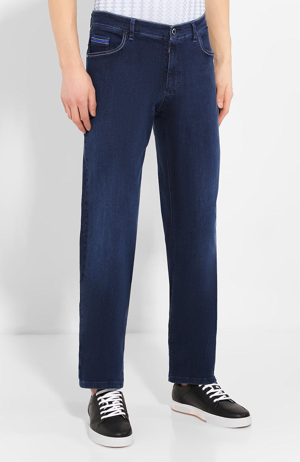 Мужские джинсы ZILLI синего цвета, арт. MCT-00011-HCBL1/R001 | Фото 3