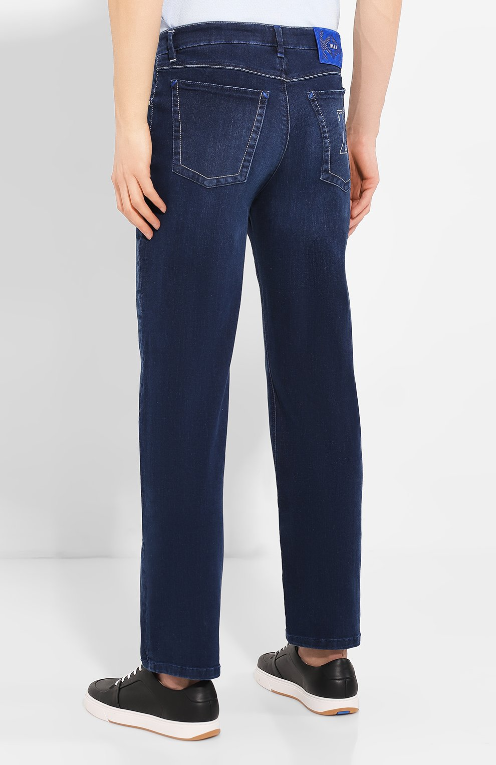 Мужские джинсы ZILLI синего цвета, арт. MCT-00011-HCBL1/R001 | Фото 4
