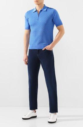 Мужские джинсы ZILLI синего цвета, арт. MCT-00010-HCBL1/S001 | Фото 2