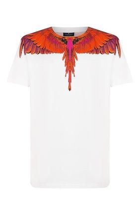 Мужская хлопковая футболка MARCELO BURLON белого цвета, арт. CMAA018R20JER004   Фото 1