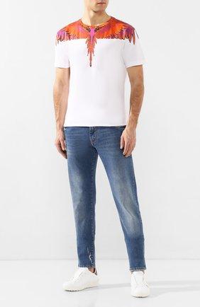 Мужская хлопковая футболка MARCELO BURLON белого цвета, арт. CMAA018R20JER004   Фото 2