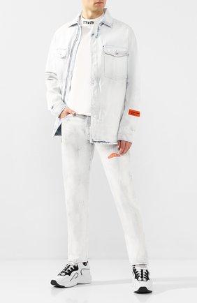 Мужские джинсы HERON PRESTON белого цвета, арт. HMYA001S20641006W219 | Фото 2