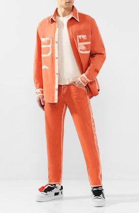 Мужские джинсы HERON PRESTON оранжевого цвета, арт. HMYA001S209120071900 | Фото 2