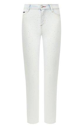 Женские джинсы PHILIPP PLEIN серебряного цвета, арт. S20C WDT1337 PDE004N | Фото 1