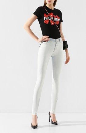 Женские джинсы PHILIPP PLEIN серебряного цвета, арт. S20C WDT1337 PDE004N | Фото 2