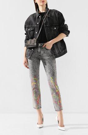 Женские джинсы PHILIPP PLEIN серого цвета, арт. S20C WDT1320 PDE004N | Фото 2