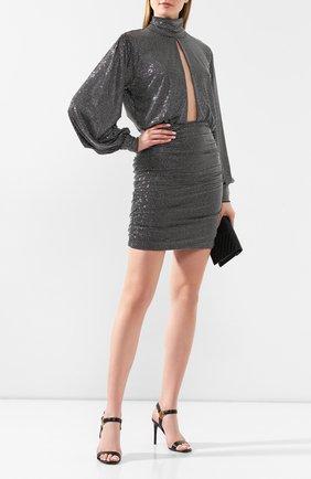 Женское платье PHILIPP PLEIN серебряного цвета, арт. S20C WRG1450 PTE003N | Фото 2