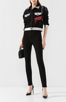 Женские джинсы PHILIPP PLEIN черного цвета, арт. S20C WDT1310 PDE004N | Фото 2