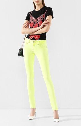 Женские джинсы PHILIPP PLEIN желтого цвета, арт. S20C WDT1313 PDE004N | Фото 2