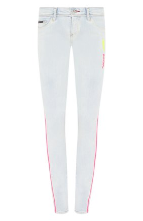 Женские джинсы PHILIPP PLEIN серебряного цвета, арт. S20C WDT1321 PDE004N | Фото 1