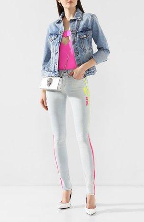 Женские джинсы PHILIPP PLEIN серебряного цвета, арт. S20C WDT1321 PDE004N | Фото 2