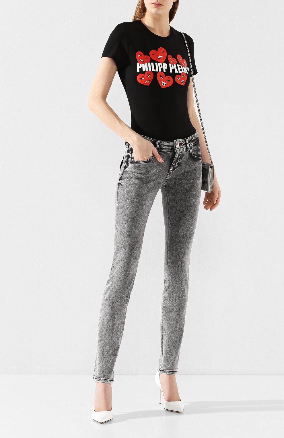 Женские джинсы PHILIPP PLEIN серого цвета, арт. S20C WDT1313 PDE004N | Фото 2