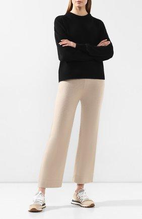 Женские кашемировые брюки THEORY бежевого цвета, арт. J1018712 | Фото 2