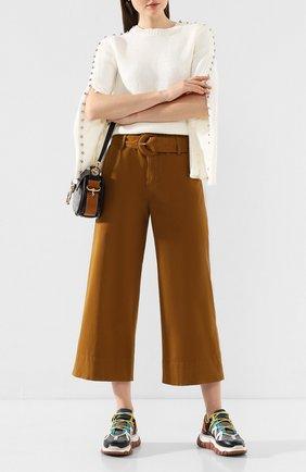 Женские хлопковые брюки PROENZA SCHOULER WHITE LABEL хаки цвета, арт. WL2016052-AC109 | Фото 2