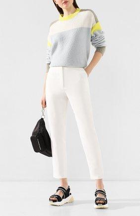 Женские брюки из смеси вискозы и льна PROENZA SCHOULER белого цвета, арт. R2016007-BY155 | Фото 2