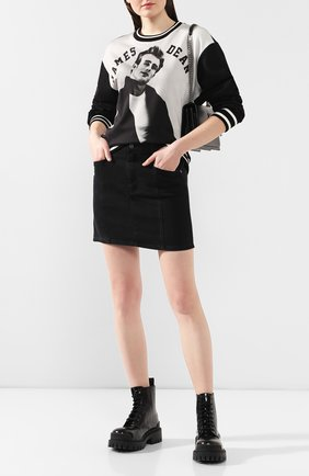 Женская хлопковый свитшот DOLCE & GABBANA серого цвета, арт. F9C85T/FI7SY | Фото 2