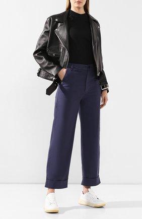 Женские хлопковые брюки J BRAND синего цвета, арт. JB002661 | Фото 2